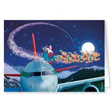 christmas cards themed airplane christmas card variety pack 24 cards