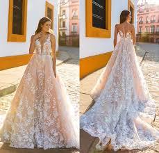 wedding dress sheer straps design 2017 bridal sleeveless straps plunging