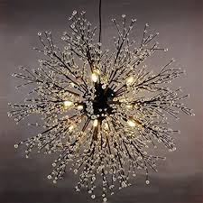 Light Fixtures Chandeliers Gdns 12 Pcs Lights Chandeliers Firework Led Light Stainless Steel