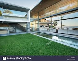 Lipoolandpatio by Swimming Pool And Patio Of Modern House Stock Photo Royalty Free