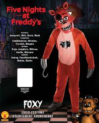 foxy costume rubie s five nights child s value priced at freddy s