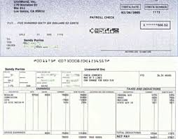 Pay Stub Template Excel Paycheck Stub Template Doliquid