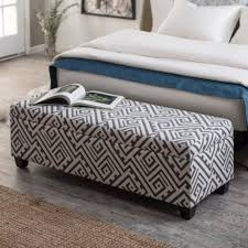 modern print storage ottoman bench attractive bedroom ottoman