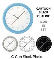 arriere plan bureau animé style illustration horloge bureau symbole isolé clipart