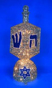 hanukkah lights decorations 36 spinning dreidel animated lighted hanukkah yard decoration