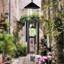 solar powered wind chime light solar powered wind chime solar garden lights outdoor colour changing