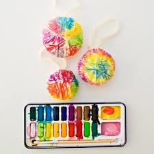 hello wonderful diy yarn watercolor ornaments