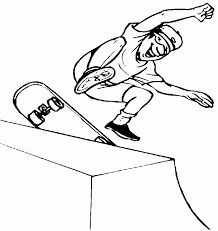 skateboard coloring pages