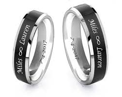 black wedding rings his and hers his and hers rings etsy