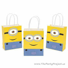 printable minions goodie bags decor despicable me birthday party