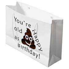 gift bags you are as happy birthday emoji large gift bag