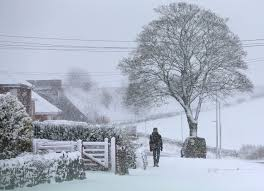 brits could see snow this weekend as chilly winter blasts send
