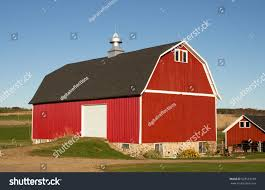 red barn horse shed on wisconsin stock photo 528553198 shutterstock