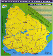 Maps South America by Large Scale Road Map Of Uruguay Uruguay South America