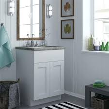 18 inch bathroom vanity base cabinet in shaker white with soft
