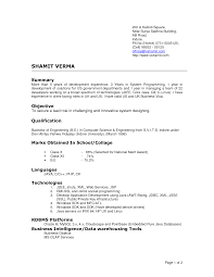 Computer Science Resume Templates Resume Format For Freshers Bsc Computer Science