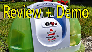 Carpet And Upholstery Cleaning Machines Reviews Bissell Little Green Proheat Portable Steam Cleaner Youtube