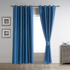 84 Inch Curtains Soild Thermal Blackout Curtains Pair Grommet Panels Drapes 52 Inch