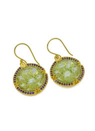 green amethyst earrings nehal jewelry ashwin green amethyst earrings shop earrings at