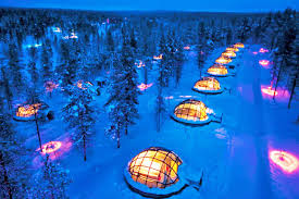 best place to watch the northern lights in canada thermal glass igloos offer views of the northern lights at finland s