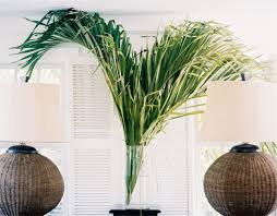 decorate with palm fronds instead of flowers this season