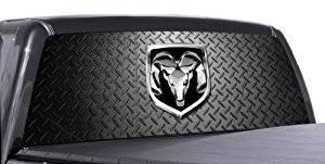 dodge ram rear window amazon com vuscapes dodge ram d plate rear window truck