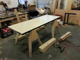 Solid Core Door Desk Simple Workbench From Solid Core Door On 2x6 Frame Album On Imgur