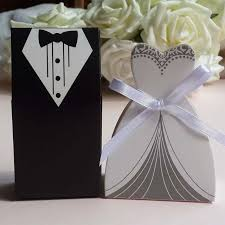 and groom favor boxes dress tuxedo wedding favor box 1000pairs 2000pcs lot and