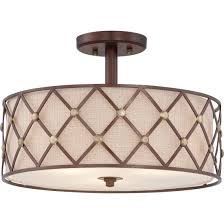 Quoizel Ceiling Light Quoizel Bwl1717cc Semi Flush Copper Canyon 3lts