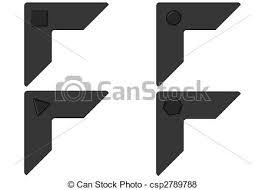 photo album corners black photo corners photo corners with geometrical carves