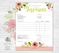 Florist Invoice Template by Invoice Template Photography Invoice Business Invoice