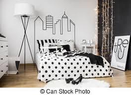 chambre à coucher blanc et noir blanc noir chambre à coucher contre rendre