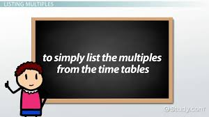 what is a multiple in math definition u0026 overview video