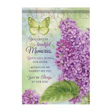 bereavement garden flag beautiful memories