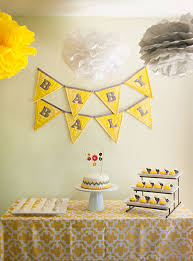 yellow and gray baby shower decorations gender neutral baby shower in yellow gray and white the