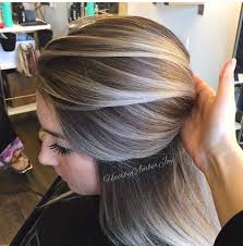 high lighted hair with gray roots color ash blonde balayage hair style color pinterest ash