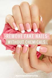remove fake acrylic nails without acetone or chemicals