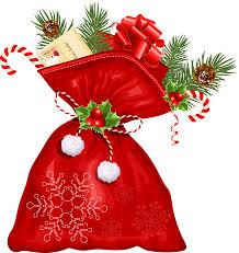 large transparent christmas santa bag png clipart gallery