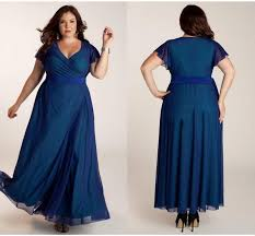 simple style plus size evening dresses cheap chiffon sash capped v