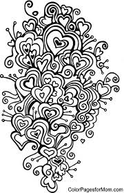 hearts coloring 20 hearts color