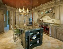Tuscan Style Kitchen Sweet Kitchen With Luxury Look Of Painted Tuscan Style Cabinet