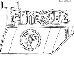 free tennessee coloring page from doodle art alley the