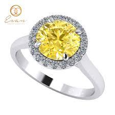 inel de logodna aur alb inel de logodna cu diamant galben si diamante incolore es151