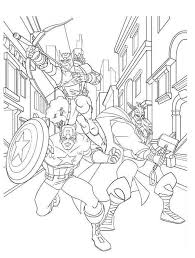 avengers character hawkeye captain america thor coloring