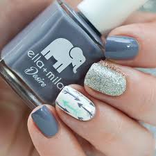 grey arrow nail art by paulina u0027s passions nail art community