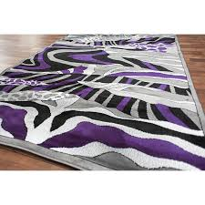 Lilac Runner Rug Contemporary Circle Runner Rug Modern Swirls Of Brown Beige