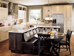contemporary kitchen island with dining table attached traditional