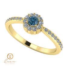 inel de logodna cu diamant inel de logodna din aur cu diamant albastru si diamante es75 esan