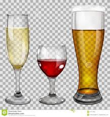 champagne transparent transparent glass goblets with drinks stock vector image 41174461