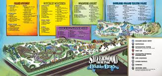 Magic Mountain Map Silverwood Park Map